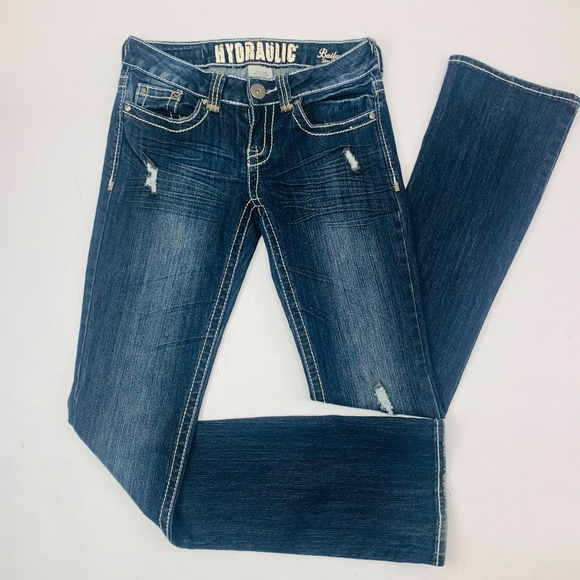 Hydraulic Denim - Hydraulic Womens Jeans 3/4 Blue Bailey Slim Boot